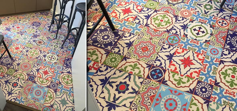 neuer vinylboden im mosaikmuster - Mosaik Muster